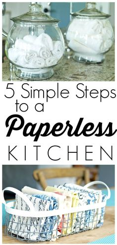 There's no need to worry about cooking spills, splashes, or drips. These 5 simple steps to a paperless kitchen can help with all of those messes—and in a way that helps the environment!