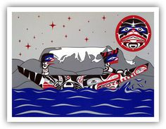 Andy Everson is a Northwest Coast Artist from Comox BC specializing in contemporary and traditional limited edition Native prints. Native Art, Native American Art, Indian Scout, Tlingit, Western Art, First Nations, Limited Edition Prints, New Art, Nativity