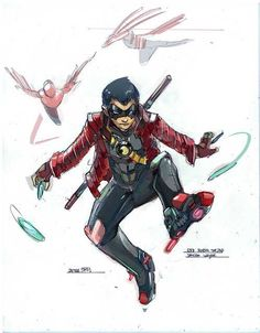 Damian Wayne as Red Robin by Peter Nguyen