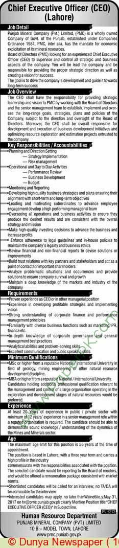 Jobs Opportunities Available For Male and Female In Multan JOBS - human resources job description