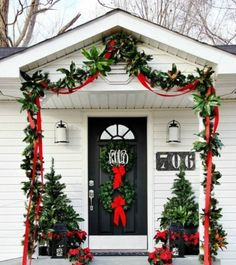 christmas front door decor Idea
