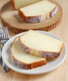 Perfect Pound Cake. Sour Cream Pound Cake--- added a few drops of Orange Essential Oil-