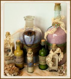 A wonderful tutorial on making your own 'antique' perfume bottles