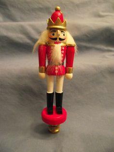 Red Nutcracker Custom Designed Lamp Finial on A Solid Brass Swivel Base | eBay