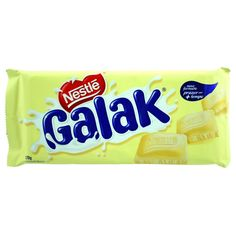 Besides being super soft, the tablet of Nestlé Galak White Chocolate is prepared with smooth curves and rounded edges so that each piece fits wonderfully in your mouth. Description from amazon.com. I searched for this on bing.com/images