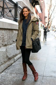 Malaika Firth - New York Fashion Week Fall 2014 Models