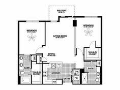 1 Bedroom 1 Bath Floor Plan Of Property Fisher Building City Apartments Fisher Building City