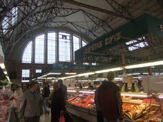 Food market in Riga Latvia