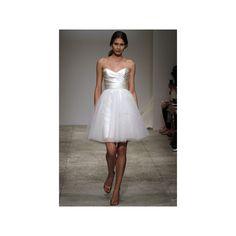 Elegant Vogue Strapless Sweetheart Tulle Short Wedding Dresses hiwdt9