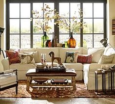 17 french country living room furniture decor ideas home pinterest pb comfort roll arm slipcovered 3 piece sectional with corner solutioingenieria Images