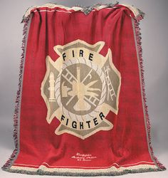 Firefighter blankets--I'd love to have one of these for my office.