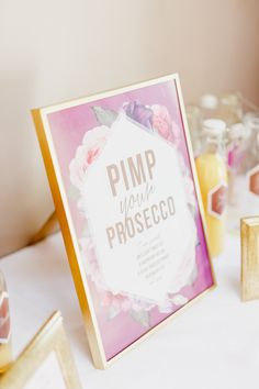 Pimp Your Prosecco Bar - White Stag Wedding Photography | Pastel Wedding at Hyde House, Cotswolds Country Barn | Naomi Neoh Bridal Gown | Alfred Sung Pink Bridesmaid Dresses | Ted Baker Suit