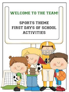 A set of 10 fun teambuilding activities for the first days of school! Students will be making goals, meeting friends, exploring the classroom and even making a baseball card. Perfect for a sports theme classroom! Check out the website for Sports Day Activities, First Day Of School Activities, 1st Day Of School, Team Building Activities, Beginning Of School, School Fun, School Stuff, Building Games, Summer School