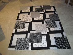 twin quilt in process. Nice pattern!