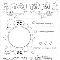 Kolorowanki, ćwiczenia, karty do wydrukowania. - Printoteka.pl Projects For Kids, Crafts For Kids, Mather Day, Pre School, Free Printables, Coloring Pages, Psychology, Bullet Journal, Classroom