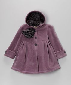 Take a look at this Lilac Riding Hood Coat - Toddler & Girls by Maria Elena on #zulily today!