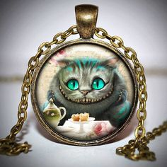 Alice in Wonderland Pendant - Alice in wonderland Necklace - Alice in... ($8) ❤ liked on Polyvore
