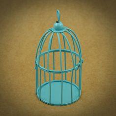 3 X GAIOLAS EM METAL MINIATURA | 6 CORES | AZUL | Utilize esta gaiola em metal miniatura como embalagem ou surpreenda os seus convidados com uma lembrança original | Cores disponíveis: Branco, Off White, Amarelo, Laranja, Azul, Verde | Medidas: 5,5 cm de diâmetro x 9,5 cm de altura.