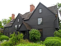 House of the Seven Gables Remodelista. Black with brown roof looks fine. I really like the browns mixed with the black houses.