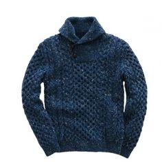 RRL ショールカラーHAND KNITセーター
