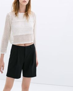 Image 2 of PLEATED SHORTS from Zara
