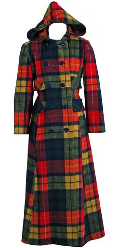 Coat    1970s    This pattern was so popular! I has this in a blue plaid.  I loved that coat.