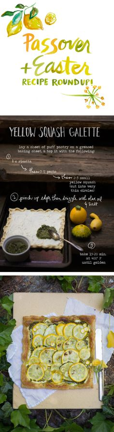 Yellow Squash Galette recipe from The Forest Feast Cookbook