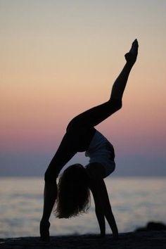 Yoga, back bend bridge.