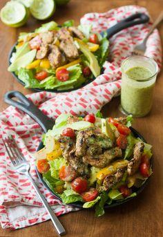Sizzling Cilantro Lime Clean Eating Fajita Salad