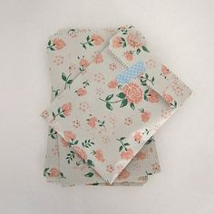 Set of 30 vintage 19 cmX13cm flower printed pattern cards pocket book or zine flat favor bag