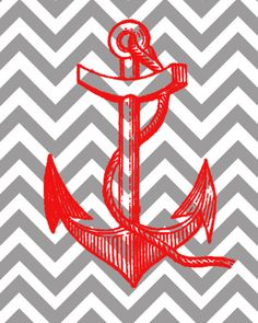 anchor and chevron backing?