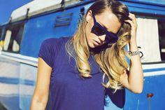 Madelene Billman: Retro 80's Futuristic Flat Top Square Aviator Sunglasses 2938