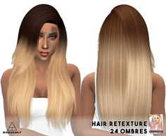 Sul sul friend, I am Leona the hair retexturer. Sims 4 Custom Content, Color Combinations, Long Hair Styles, Beauty, Random, Create, Clothing, Hairstyles, Color Combos