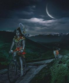 Lord Shiva on a bike... seriously Internet, what are you doing?  #hindu #god #yourargumentisinvalid