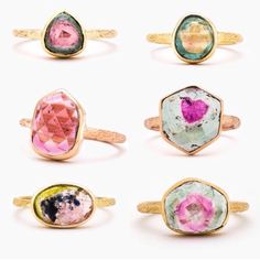 These rings by Digby and Iona are amazing. I love the Tourmaline with the heart center