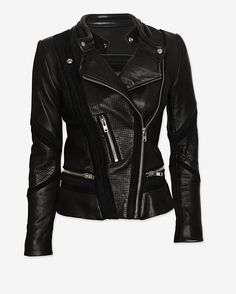 IRO Inaya Perforated Detail Leather Jacket **The perfect moto~nobody will hv this~Thanks Rodeo!!