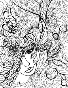 colouring pages for adults faces - Google Search