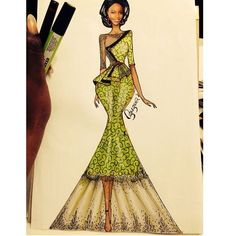 Is it me or did Lupita Nyong'o turn up in this ankara skirt n blouse ? for Source by dresses sketches African Fashion Ankara, African Print Fashion, Dress Sketches, Fashion Sketches, Fashion Illustration Hair, Ankara Skirt And Blouse, Blouse Dress, African Lace Dresses, Embroidery Fashion