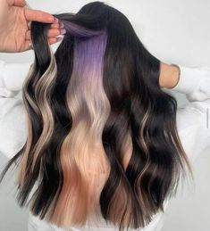 Vivid Hair Color, Girl Hair Colors, Cute Hair Colors, New Hair Colors, Peekaboo Hair Colors, Teen Girl Hairstyles, Winter Hairstyles, Cool Hairstyles, Natural Hair Styles