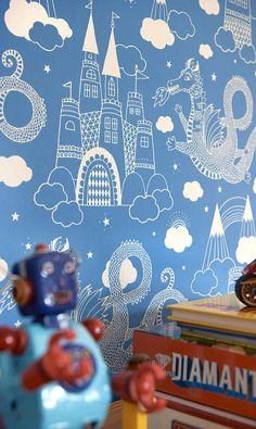 dragon wallpaper by nubie modern kids boutique | notonthehighstreet.com