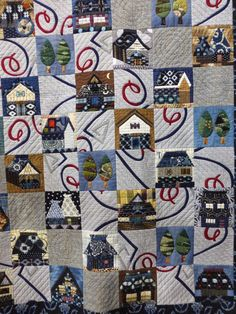 'Houses in Hometown' by Teruko Shibata. 2015 Tokyo International Great Quilt Festival.  Photo by Susan Briscoe.