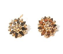 Petals of Gold - French Flower Motif Earrings