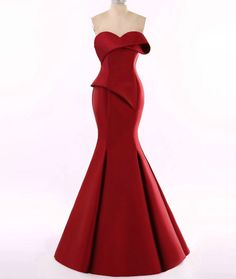 Red Haute couture Evening Gowns from Darius Dresses