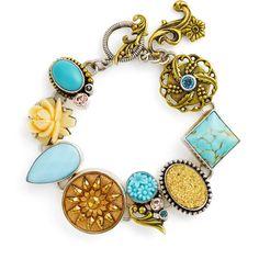 Mars and Valentine 'Roman Sky - Da Vinci' Bracelet Druzy Jewelry, Metal Jewelry, Crystal Jewelry, Jewelry Box, Vintage Jewelry, Jewelry Bracelets, Jewelry Making, Antique Booth Ideas, Fashion Jewelry