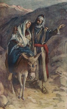 Jesús María y José Flight Into Egypt by Harold Copping Church Pictures, Jesus Pictures, Christian Images, Christian Art, Catholic Art, Religious Art, Jesus Childhood, Flights To Egypt, Bible Photos
