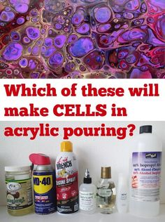 Ultimate Guide to Using Silicone for Beautiful Cells in Your Acrylic Pours What is a pouring medium and why do you need one Which one is better than the others to use in acrylic pour paintings We test a variety of different acrylic pouring supplies to see Acrylic Pouring Techniques, Acrylic Pouring Art, Acrylic Art, Acrylic Tube, Acrylic Resin, Flow Painting, Acrylic Painting Techniques, Diy Painting, Painting Tutorials