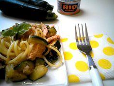 spaghetti light zucchine e tonno