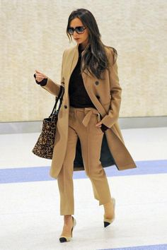 11 Celebrity Looks That Make Us Want a Camel Coat—Stat - Victoria Beckham  - from InStyle.com