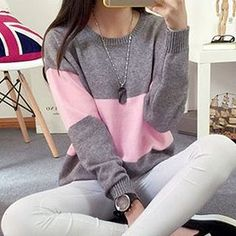 Buy 'FR – Color-Block Sweater' with Free International Shipping at YesStyle.com. Browse and shop for thousands of Asian fashion items from China and more!
