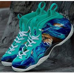 2d99a883aa338 This custom pair of Nike Foamposite One was made by  districtcustoms202  (Instagram)  TheSoleLibrary  CustomOfTheWeek